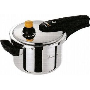 スタイリッシュなステンレス圧力鍋で、4〜5人用のご家族に最適。 蓋はワンタッチロックでカチッとロック...