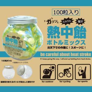 井関食品 熱中飴 ボトルミックス(100粒入り) BR-A100|nabike
