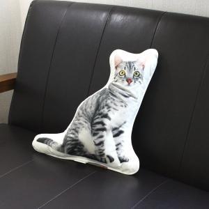 SALE40%OFF・アンダロ グレイ キャット 猫柄クッション|nachu