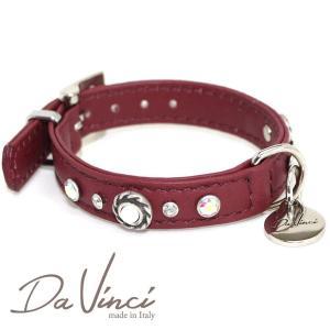 Da Vinci カラー Vittoria:ボルドー DV1.1.25BX 小型犬用首輪・首周り実寸:約17〜21cm お洒落な イタリア製 かわいい ダ・ヴィンチ nachu