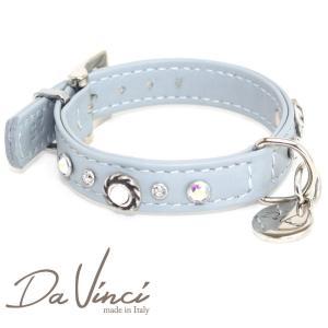 Da Vinci カラー Vittoria:グレー DV1.1.25G 小型犬用首輪・首周り実寸:約17〜21cm お洒落な イタリア製 かわいい ダ・ヴィンチ nachu