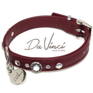 Da Vinci カラー Vittoria:ボルドー DV1.1.30BX 小型犬用首輪・首周り実寸:約20〜25cm お洒落な イタリア製 かわいい ダ・ヴィンチ nachu
