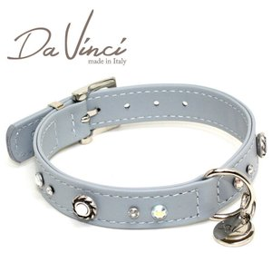 Da Vinci カラー Vittoria:グレー DV1.2.35G 小型用首輪・首周り実寸:約24〜30cm お洒落な イタリア製 かわいい ダ・ヴィンチ nachu