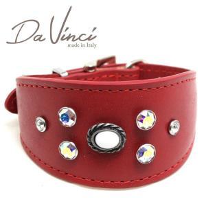 SALE/返品交換不可・Da Vinci カラー Vittoria:赤 DV1.7.30R 小型犬用首輪・首周り実寸:約21〜25cm イタリア製 dv91317 nachu