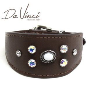 SALE/返品交換不可・Da Vinci カラー Vittoria:茶 DV1.7.30BR 小型犬用首輪・首周り実寸:約21〜25cm イタリア製 dv91324 nachu