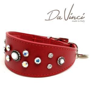 SALE/返品交換不可・Da Vinci カラー Vittoria:赤 DV1.7.35R 小型犬用首輪・首周り実寸:約25〜29cm イタリア製 dv91362 nachu