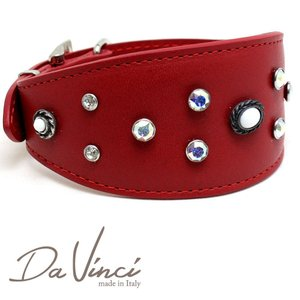 SALE/返品交換不可・Da Vinci カラー Vittoria:赤 DV1.7.40R 中型犬用首輪・首周り実寸:約25〜33cm イタリア製  dv91416 nachu