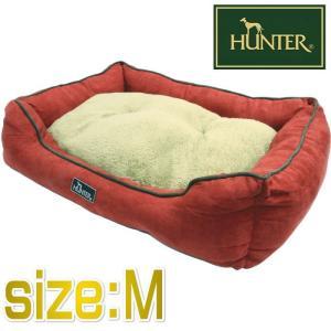 HUNTER ハンター ドッグソファ コテージ レッド Mサイズ ペット用ベッド 65×50×17cm|nachu