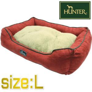 HUNTER ハンター ドッグソファ コテージ レッド Lサイズ ペット用ベッド 75×60×20cm|nachu
