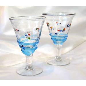 宙吹きガラス せせらぎ ワイン&デザート 結婚内祝い 出産内祝い 贈答品 贈り物 お返し|nacole