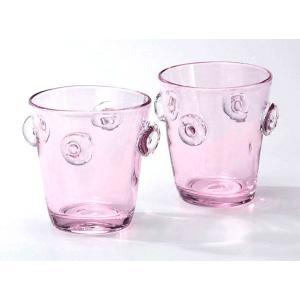 宙吹きガラス さくら ロックグラス 10個セット|nacole