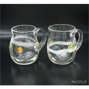宙吹きガラス ほのか ペアマグカップセット 結婚内祝い 出産内祝い 贈答品 贈り物 お返し|nacole