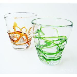 宙吹きガラス ハニーループ ロックグラス|nacole