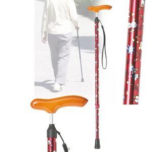 スリムネックステッキ 伸縮 レッド 杖 つえ 軽量(介護用品 敬老の日ギフト おすすめ)|nacole