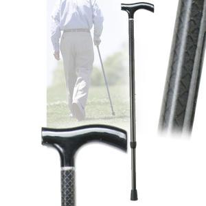 伸縮カーボンステッキ 英国紳士の風合い 格子柄 黒 杖 つえ 軽量 介護用品 敬老の日ギフト おすすめ|nacole