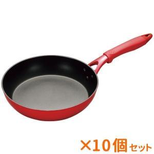熱まわりの良いセラミックスと焦げつきにくいフッ素樹脂が融合したフライパン。素早く調理ができてお手入れ...