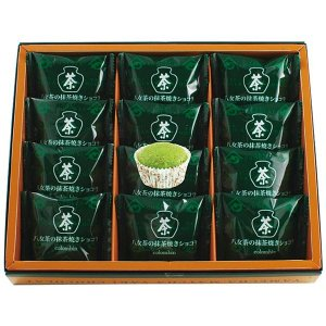 お菓子ギフト コロンバン 八女茶の抹茶焼きショコラ12個入 結婚内祝い 出産内祝い 贈答品 ホワイトデーギフト 贈り物 お返し|nacole