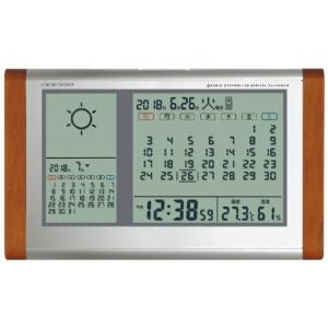 アデッソ(ADESSO) カレンダー電波時計(天気予報機能付) 内祝い 結婚内祝い 出産内祝い 結婚...