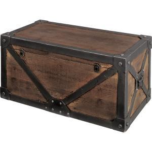 Troll トロール天然木トランク M 幅76cm 天然木 木製 収納 ボックス 小物入れ 宝箱 ディスプレイ 収納BOX おしゃれ 人気 おすすめ|nacole