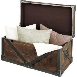Troll トロール天然木トランク L 幅82cm 天然木 木製 収納ボックス 小物入れ 宝箱 ディスプレイ 収納BOX おしゃれ 人気 おすすめ|nacole