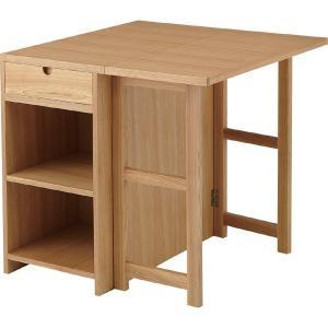 バタフライテーブル Coling コリング 幅75cm 天然木 木製 机 エクステンションテーブル デスク 伸張式(おしゃれ 人気 おすすめ)|nacole