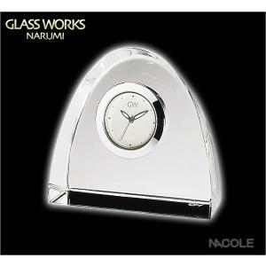 グラスワークスナルミ 置時計 アーチ クロックS 結婚祝い 出産内祝い 新築祝い お返し|nacole