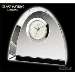 グラスワークスナルミ 置時計 アーチ クロックM 結婚祝い 出産内祝い 新築祝い お返し|nacole