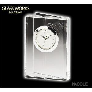 グラスワークスナルミ 置時計 ブック クロックS|nacole