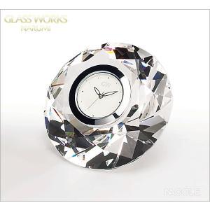 グラスワークスナルミ 置時計 ダイヤモンド クロックS 結婚祝い 出産内祝い 新築祝い お返し|nacole