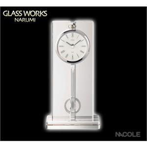 グラスワークスナルミ 置時計 ツーライン ペンドラムクロックS 結婚祝い 出産内祝い 新築祝い お返し|nacole