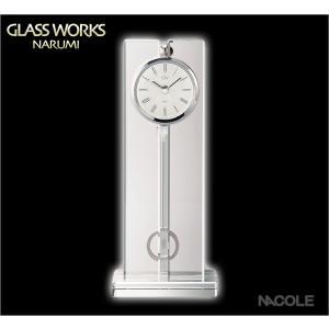 グラスワークスナルミ 置時計 ツーライン ペンドラムクロックL 結婚祝い 出産内祝い 新築祝い お返し|nacole
