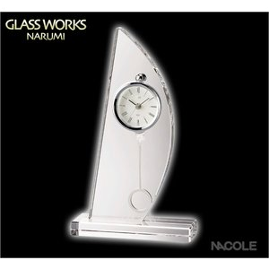 グラスワークスナルミ 置時計 スピンネーカー ペンドラムクロック|nacole