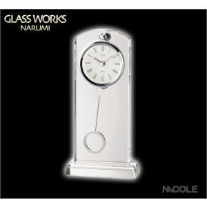 グラスワークスナルミ 置時計 セレナ ペンドラムクロック|nacole