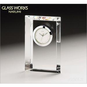 グラスワークスナルミ 置時計 エンブレム クロックS|nacole