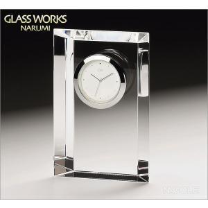 グラスワークスナルミ 置時計 エンブレム クロックM|nacole