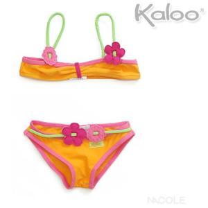 Kaloo カルー子供用水着ビキニ6 12 オレンジ ビーチコレクション|nacole