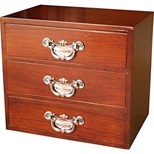 ギフト 木製 大和 三段タンス 小物家具 結婚内祝い 出産内祝い 贈答品 贈り物 お返し|nacole