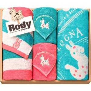 ギフト Rody ロディ)フェイスタオルセット2P&タオルハンカチセット2P 結婚内祝い 出産内祝い 贈答品 贈り物 お返し|nacole