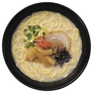 生麺をそのまま48時間熟成乾燥させ、うま味を凝縮させたノンフライの旨麺。豚骨を長時間煮込んだスープで...