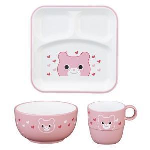 ギフト ハグミー 食器3点セット クマ 日本製 洋食器 結婚内祝い 出産内祝い 贈答品 贈り物 お返し|nacole