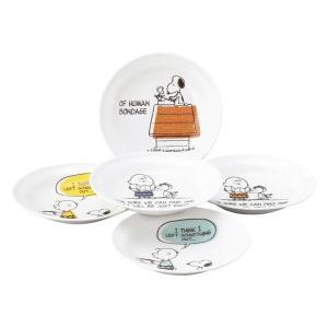 ギフト ピーナッツ スヌーピー ヴィンテージ ファイブプレートセット 日本製 洋食器 結婚内祝い 出産内祝い 贈答品 贈り物 お返し|nacole