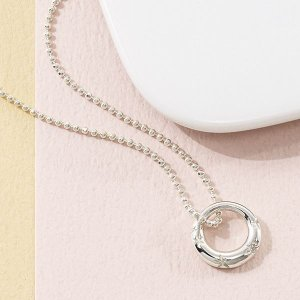 ギフト ウルティマ ダイヤ付シルバーサークルペンダント 日本製 結婚内祝い 出産内祝い 贈答品 贈り物 お返し|nacole