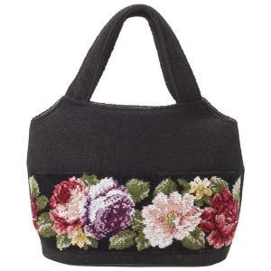 ギフト 日本製シェニール織バラ柄手提げバッグ 日本製 結婚内祝い 出産内祝い 贈答品 贈り物 お返し nacole