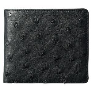ギフト 紳士用オーストリッチ財布 ブラック 日本製 結婚内祝い 出産内祝い 贈答品 贈り物 お返し nacole
