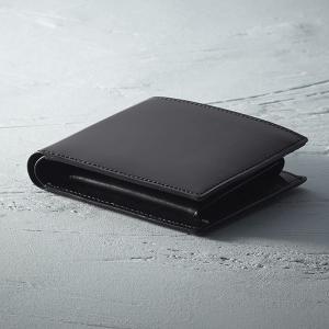 ギフト コードバン二つ折財布 ブラック 日本製 結婚内祝い 出産内祝い 贈答品 贈り物 お返し|nacole