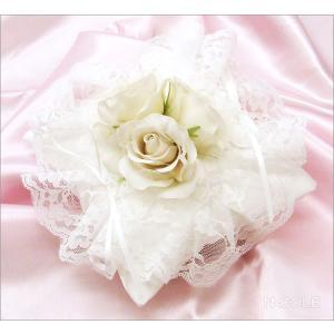 ローズブーケリングピロー(完成品(結婚祝い 結婚式 ブライダル 指輪 ウェディング)|nacole