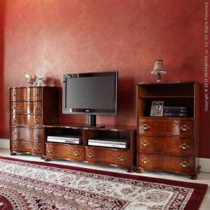 アンティーク調 輸入家具 丸脚テレビボード 幅110cm テレビ台TV台サイドボード|nacole|02