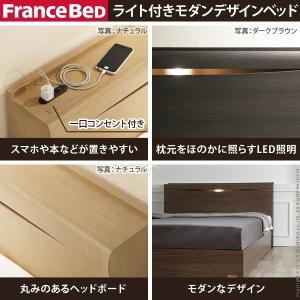 フランスベッド セミダブル ライト・棚付きベッド グラディス 収納なし セミダブル ベッドフレームのみ フレーム|nacole|02