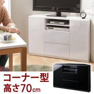 テレビ台 キャスター付きコーナーTVボード ハイタイプ テレビボード|nacole