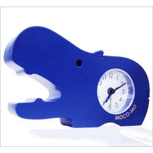 モコモ 時計 カバ ブルー|nacole